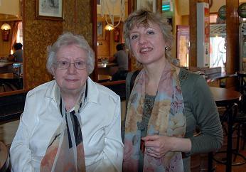 Monserrat con la directora del Festival Liudmila Matsyura
