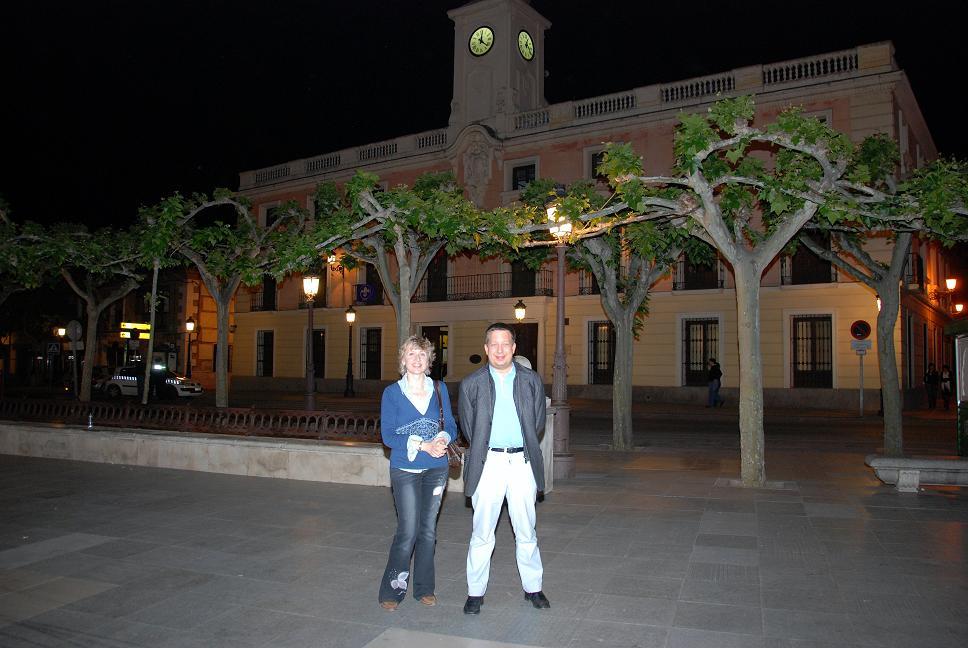 Con Liudmila Matsyura junto al Ayunto