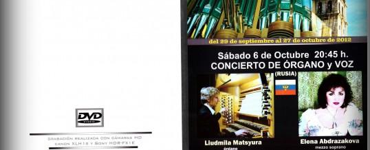 DVD – VI  INTERNATIONAL ORGAN FESTIVAL , 2012